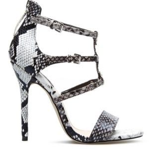 Black and white Snake Skin heels